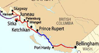 Click here for the Prince Rupert Ferries Route Map